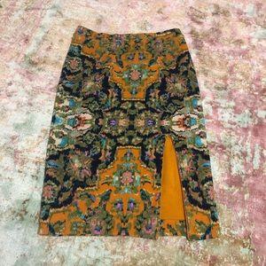 Anthropologie sweater mid length skirt